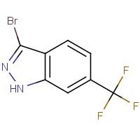 3-溴-6-(三氟甲基)-1H-吲唑,1000341-21-8,结构式
