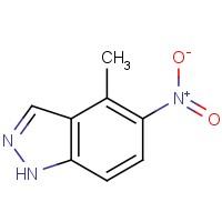 4-甲基-5-硝基-1H-吲唑,101420-67-1,结构式