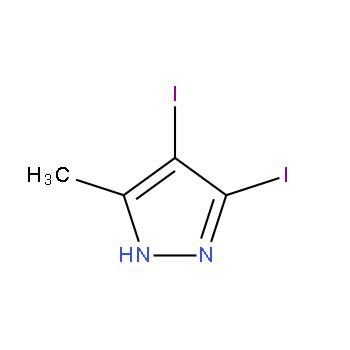 3,4-二碘-5-甲基-1H-吡唑,6715-87-3,结构式